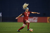 San Diego, CA - Sunday January 21, 2018: Julie Ertz prior to an international friendly between the women's national teams of the United States (USA) and Denmark (DEN) at SDCCU Stadium.