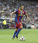 3.10.10 Barcelona, Spain, La Liga , day 6 , FC Barcelona draw with Mallorca at Nou Camp 1 - 1. Dani alves run for sideline