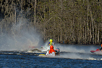 Frame 7: Serena Durr 96-F, Erin Pittman 6-H crash. (Outboard Hydroplanes)