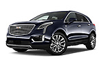 Stock pictures of low aggressive front three quarter view of 2019 Cadillac XT5 Platinum 5 Door Suv Low Aggressive