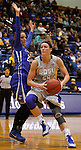 BROOKINGS, SD - NOVEMBER 18:  Megan Waytashek #24 from South Dakota State University drives past Marissa Janning #23 from Creighton in the first half of their game Tuesday night at Frost Arena in Brookings. (Photo by Dave Eggen/Inertia)