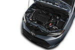 Car stock 2017 Toyota Corolla L 4 Door Sedan engine high angle detail view