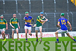 Kerry's Jason Leahy and Tipperary's Paddy Murphy in action in the Waterford Crystal cup at Austin Stack park, Tralee on Sunday.