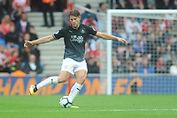 Burnley's James Tarkowski<br /> <br /> Photographer Kevin Barnes/CameraSport<br /> <br /> The Premier League - Southampton v Burnley - Sunday August 12th 2018 - St Mary's Stadium - Southampton<br /> <br /> World Copyright &copy; 2018 CameraSport. All rights reserved. 43 Linden Ave. Countesthorpe. Leicester. England. LE8 5PG - Tel: +44 (0) 116 277 4147 - admin@camerasport.com - www.camerasport.com