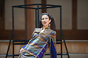 London, UK. 30.04.2014. Shakespeare's Globe presents TITUS ANDRONICUS, directed by Lucy Bailey. Picture shows: Indira Varma (as Tamora). Photograph © Jane Hobson.