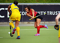 Action from the National Hockey League women's match between the Canterbury Cats and Southern Storm at National Hockey Stadium in Wellington, New Zealand on Friday, 22 October 2017. Photo: Dave Lintott / lintottphoto.co.nz
