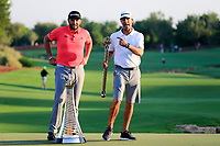 Jon Rahm (ESP) winner of the DP World Tour Championship and Race to Dubai caddy at the Jumeirah Golf Estates, Dubai, United Arab Emirates. 24/11/2019<br /> Picture: Golffile | Fran Caffrey<br /> <br /> <br /> All photo usage must carry mandatory copyright credit (© Golffile | Fran Caffrey)
