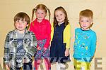 Enjoying theBallybunion Fashion Show in aid of  St Joseph's Secondary school at Tintean Theatre on Thursday were models Evan Murphy, Katie Joyce, Sinead Costello and Max Ryan