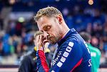 Hannes Jon Jonsson (Trainer SG Bietigheim) \ beim Spiel in der Handball Bundesliga, SG BBM Bietigheim - SC DHfK Leipzig.<br /> <br /> Foto &copy; PIX-Sportfotos *** Foto ist honorarpflichtig! *** Auf Anfrage in hoeherer Qualitaet/Aufloesung. Belegexemplar erbeten. Veroeffentlichung ausschliesslich fuer journalistisch-publizistische Zwecke. For editorial use only.