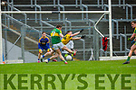 Kerry Killian Young goalbound shot is blocked brilliantly by Sean McDermott Roscommon during their NFKL Div 1 clash in Fitzgerald Stadium on Sunday