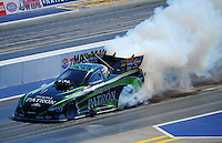 Apr. 14, 2012; Concord, NC, USA: NHRA funny car driver Alexis DeJoria during qualifying for the Four Wide Nationals at zMax Dragway. Mandatory Credit: Mark J. Rebilas-