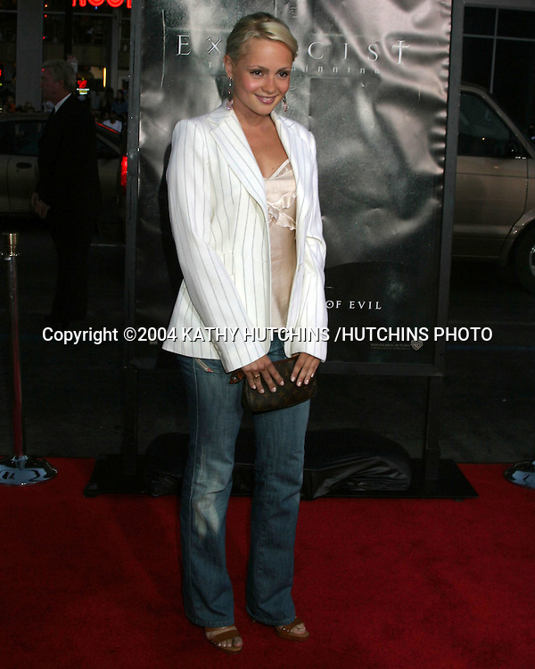 "©2004 KATHY HUTCHINS /HUTCHINS PHOTO.""EXORCIST THE BEGINNING"" PREMIERE.GRAUMAN'S CHINESE THEATER.LOS ANGELES, CA.AUGUST 18, 2004..BEATRICE ROSEN"