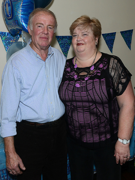Val Clarke celebrating his 70th birthday in McHugh's with wife Bernadette. Photo:Colin Bell/pressphotos.ie