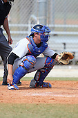 New York Mets minor league catcher Jeffrey Glenn #12 during a spring training game vs the St. Louis Cardinals at the Roger Dean Complex in Jupiter, Florida;  March 24, 2011.  Photo By Mike Janes/Four Seam Images
