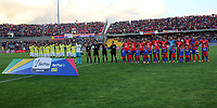 PASTO-COLOMBIA, 07-02-2020: Jugadores de Deportivo Pasto y Atlético Bucaramanga, durante partido de la fecha 4 entre Deportivo Pasto y Atlético Bucaramanga por la Liga BetPlay DIMAYOR I 2020 jugado en el estadio Departamental Libertad de la ciudad de Pasto. / Players of Deportivo Pasto and Atletico Bucaramanga, during a match of the 4th date between Deportivo Pasto and Atletico Bucaramanga for the BetPlay DIMAYOR I Leguaje 2020 played at the Departamental Libertad Stadium in Pasto city. / Photo: VizzorImage / Leonardo Castro / Cont.