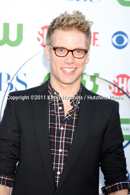 LOS ANGELES - AUG 3:  Barrett Foa arriving at the CBS TCA Summer 2011 All Star Party at Robinson May Parking Garage on August 3, 2011 in Beverly Hills, CA