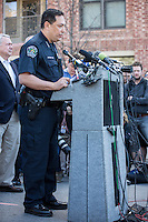 Austin Police Chief Art Acevedo holds a press conference on the SXSW Crash incident. Austin Police Department (APD) is the principal law enforcement agency serving Austin, Texas, United States.<br />