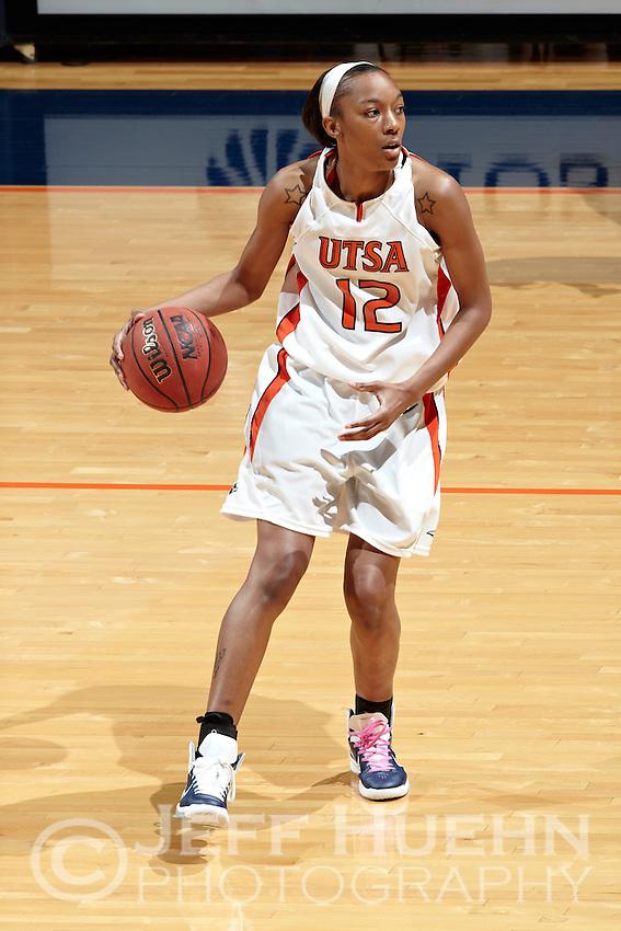 SAN ANTONIO, TX - MARCH 5, 2011: The University of Texas at Arlington Mavericks vs. the University of Texas at San Antonio Roadrunners Women's Basketball at the UTSA Convocation Center. (Photo by Jeff Huehn)