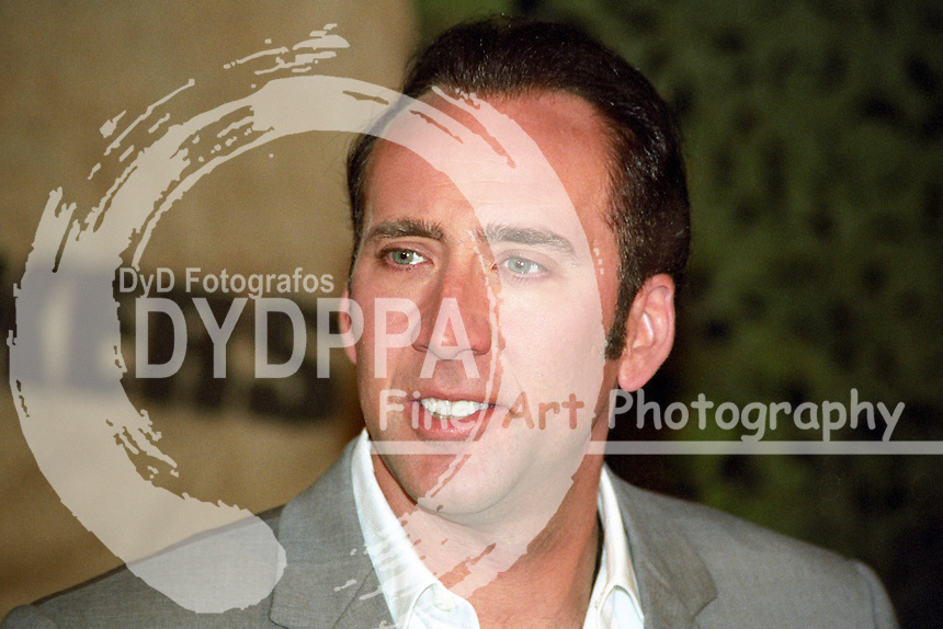 "Actor Nicolas Cage during the photocall for  ""Windtalkers"" at Hotel Atlantic, Hamburg"