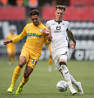 \Swansea City's Joe Rodon (right) battles with Preston North End's Andre Green (right) <br /> <br /> Photographer David Horton/CameraSport<br /> <br /> The EFL Sky Bet Championship - Swansea City v Preston North End - Saturday 17th August 2019 - Liberty Stadium - Swansea<br /> <br /> World Copyright © 2019 CameraSport. All rights reserved. 43 Linden Ave. Countesthorpe. Leicester. England. LE8 5PG - Tel: +44 (0) 116 277 4147 - admin@camerasport.com - www.camerasport.com