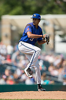 Missoula Osprey starting pitcher Franklyn Soriano (33) in action against the Billings Mustangs at Dehler Park on August 20, 2017 in Billings, Montana.  The Osprey defeated the Mustangs 6-4.  (Brian Westerholt/Four Seam Images)