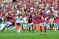 ATENCAO EDITOR: FOTO EMBARGADA PARA VEICULOS INTERNACIONAIS-RIO DE JANEIRO, RJ, 30 SETEMBRO 2012-CAMPEONATO BRASILEIRO-FLAMENGO X FLUMINENSE-Thiago Neves e Wellington Nem do Fluminense em jogada contra o Flamengo durante a partida Flamengo x Fluminense valida pela 27 rodada do Campeonato Brasileiro no Estadio Joao Havelange, Engenhao, neste domingo, 30 de setembro,na zona norte do Rio de Janeiro.(FOTO:MARCELO FONSECA/ BRAZIL PHOTO PRESS).