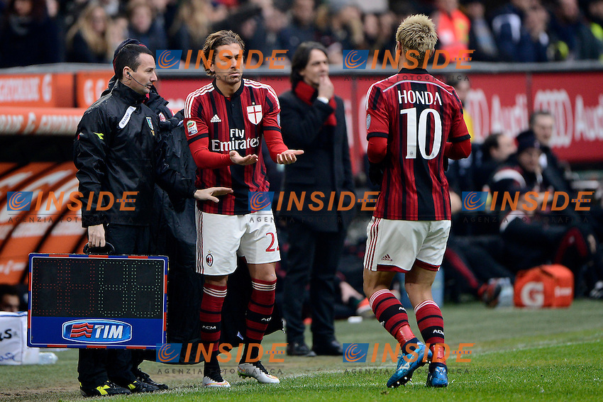 Alessio Cerci, Keisuke Honda Milan<br /> Milano 15-02-2015 Stadio Giuseppe Meazza - Football Calcio Serie A Milan - Empoli. Foto Giuseppe Celeste / Insidefoto
