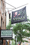 Theatre Marquee for the Off-Broadway Opening Night arrivals for 'Vitaly: An Evening of Wonders' at the Westside Theatre on June 20, 2018 in New York City.