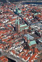Luebecks Kirchen: EUROPA, DEUTSCHLAND, SCHLESWIG- HOLSTEIN, LUEBECK, (GERMANY), 27.03.2007: Luebecks Kirchen, Kirche, Dom, Innenstadt,  Stadtbild, historisch, gewachsen, eng , voll, Zentrum.c o p y r i g h t : A U F W I N D - L U F T B I L D E R . de.G e r t r u d - B a e u m e r - S t i e g 1 0 2, 2 1 0 3 5 H a m b u r g , G e r m a n y P h o n e + 4 9 (0) 1 7 1 - 6 8 6 6 0 6 9 E m a i l H w e i 1 @ a o l . c o m w w w . a u f w i n d - l u f t b i l d e r . d e.K o n t o : P o s t b a n k H a m b u r g .B l z : 2 0 0 1 0 0 2 0  K o n t o : 5 8 3 6 5 7 2 0 9.C o p y r i g h t n u r f u e r j o u r n a l i s t i s c h Z w e c k e, keine P e r s o e n l i c h ke i t s r e c h t e v o r h a n d e n, V e r o e f f e n t l i c h u n g n u r m i t H o n o r a r n a c h M F M, N a m e n s n e n n u n g u n d B e l e g e x e m p l a r !.
