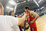Spain's Rudy Fernandez attends the journalists during training session.July 23,2012(ALTERPHOTOS/Acero)
