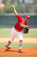 April 14, 2009:  Pitcher Carlos Gonzalez of the St. Louis Cardinals extended spring training team during a game at Roger Dean Stadium Training Complex in Jupiter, FL.  Photo by:  Mike Janes/Four Seam Images