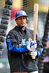 3 March 2010: New York Mets' infielder Fernando Tatis awaits his turn in the batting cage prior to a Grapefruit League game against the Atlanta Braves at Champion Stadium in the ESPN Wide World of Sports Complex in Orlando, Florida. The Braves defeated the Mets 9-5 in the Spring Training matchup. Mandatory Credit: Ed Wolfstein Photo