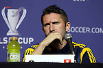 05 December 2014: Los Angeles Galaxy's Robbie Keane. Major League Soccer held a press conference at the StubHub Center in Carson, California two days before the Los Angeles Galaxy hosted the New England Revolution in MLS Cup 2014.