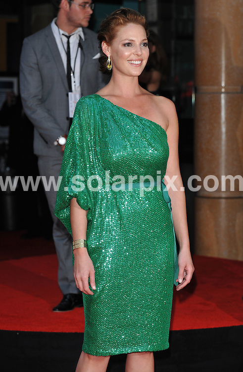 **ALL ROUND PICTURES FROM SOLARPIX.COM**.**WORLDWIDE SYNDICATION RIGHTS**.Premiere of The Ugly Truth at The Vue cinema, Leicester Square, London, UK. 4 August 2009 ..This pic: Katherine Heigl ..JOB REF: 9698 SSD     DATE: 04_08_2009.**MUST CREDIT SOLARPIX.COM OR DOUBLE FEE WILL BE CHARGED**.**MUST NOTIFY SOLARPIX OF ONLINE USAGE**.**CALL US ON: +34 952 811 768 or LOW RATE FROM UK 0844 617 7637**