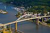 Aerial view of Chesapeake City, maryland