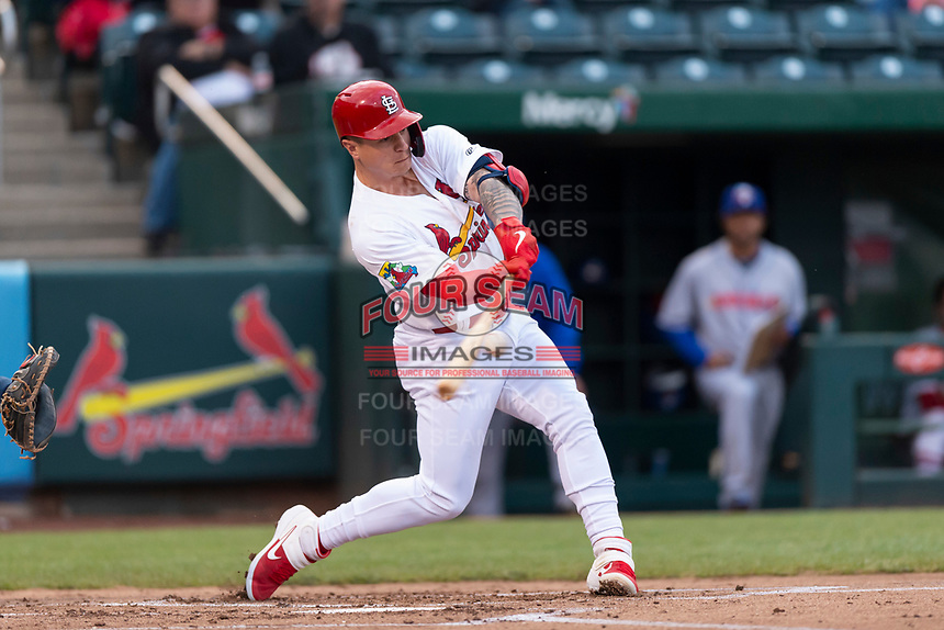 Springfield Cardinals left fielder Tyler O'Neill (40) during a rehab assignment in a Texas League game against the Amarillo Sod Poodles on April 25, 2019 at Hammons Field in Springfield, Missouri. Springfield defeated Amarillo 8-0. (Zachary Lucy/Four Seam Images)