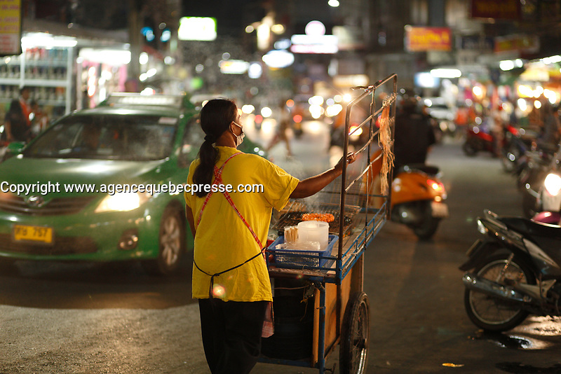 street food<br />  in  Thailand