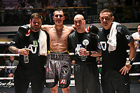 Dean Richardson (grey shorts) defeats Zoltan Turai during a Boxing Show at York Hall on 10th June 2017