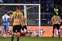 Thomas Strakosha of Lazio saves a penalty kicked by Kevin Lasagna of Udinese <br /> Roma 17-4-2019 Stadio Olimpico Football Serie A 2018/2019 SS Lazio - Udinese <br /> Foto Andrea Staccioli / Insidefoto