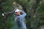 Lasse Jensen of Denmark tees off during the 58th UBS Hong Kong Golf Open as part of the European Tour on 09 December 2016, at the Hong Kong Golf Club, Fanling, Hong Kong, China. Photo by Marcio Rodrigo Machado / Power Sport Images