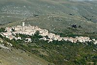 View of the historic village of Santo Stefano di Sessanio in the Gran Sasso National Park