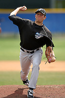 March 29, 2010:  Pitcher Scott Gracey of the Toronto Blue Jays organization during Spring Training at the Englebert Minor League Complex in Dunedin, FL.  Photo By Mike Janes/Four Seam Images