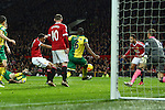Anthony Martial of Manchester United scores his sides first goal - Manchester United vs Norwich City - Barclays Premier League - Old Trafford - Manchester - 19/12/2015 Pic Philip Oldham/SportImage
