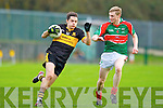 Man of the Match Brian Looney Crokes goes past Lorcan Egan Loughmore/Castleiney during the Munster Club championships in Killarney on Saturday