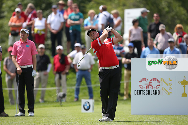 Andrew Johnston (ENG) birdies the 7th 8th and 9th for the lead at lunch during Round One of the 2015 BMW International Open at Golfclub Munchen Eichenried, Eichenried, Munich, Germany. 25/06/2015. Picture David Lloyd | www.golffile.ie