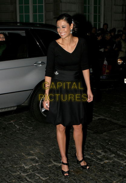 MELANIE SYKES.A Gala Screening of George Michael: A Different Story at Curzon Mayfair Cinema,, London, UK..December 5th, 2005.Ref: AH.full length black dress peep toe shoes smiling.www.capitalpictures.com.sales@capitalpictures.com.© Capital Pictures.