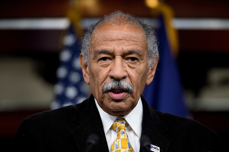 UNITED STATES - MAY 16: Rep. John Conyers, D-Mich, participates in the House Democrats' news conference in the Capitol on the Violence against Women Act on Wednesday, May 16, 2012. (Photo By Bill Clark/CQ Roll Call)