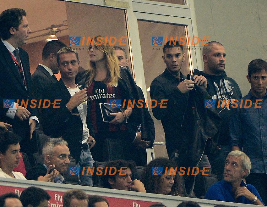 Barbara Berlusconi, Emis Killa<br /> Milano 20-09-2014 Stadio Giuseppe Meazza - Football Calcio Serie A Milan - Juventus. Foto Giuseppe Celeste / Insidefoto