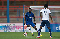 Antonio Rüdiger of Chelsea during the Premier League 2 match between Chelsea U23 and Tottenham Hotspur U23 at the Electrical Services Stadium, Aldershot, England on 30 August 2019. Photo by Andy Rowland.