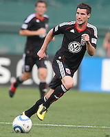 Chris Pontius #13 of D.C. United during an international charity match against the national team of El Salvador at RFK Stadium, on June 19 2010 in Washington DC. D.C. United won 1-0.
